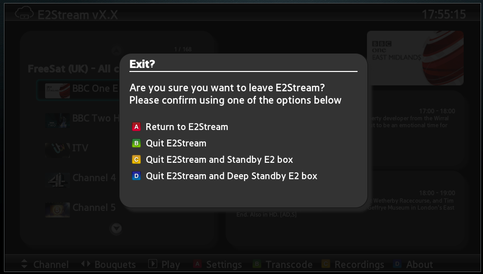 E2Stream - The Enigma2 Samsung SMART TV Streaming App